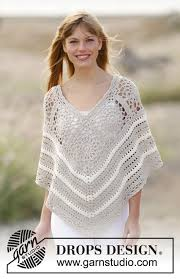sweet martine drops 167 21 free crochet patterns by drops design - Drops Design Poncho