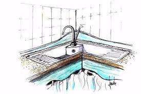 lavello angolare lavello in pietra idee per la cucina
