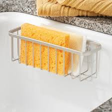 Kitchen Soap Dish Sponge Holder by Interdesign Gia Kitchen Sink Suction Holder For Sponges Scrubbers
