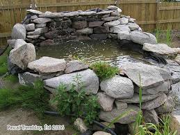 how to build a cheap outdoor pond waterfall to aerate water garden