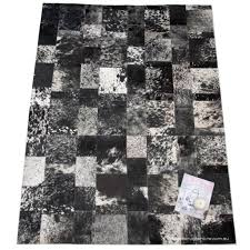 Faux Cowhide Rugs Flooring Charcoal White Patchwork Cowhide Rugs Stylish