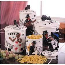 canisters kitchen decor for kitchen jazz band 4 pc canister set