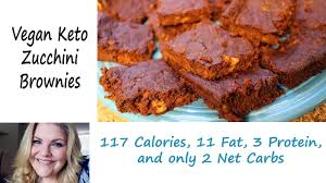 zucchini brownies vegan keto style youtube