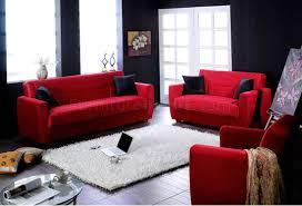 Microfiber Living Room Set Elegant Red Microfiber Living Room With Storage Sleeper Sofa