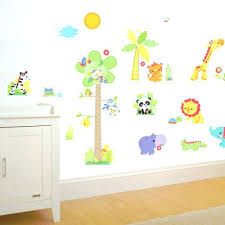 stickers pour chambre de bebe stickers deco chambre enfant sticker jungle stickers muraux chambre