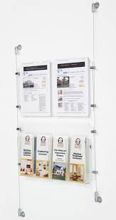 Wall Mounted Nameplate Holders 2 8 5 X 11 Sign Holder With Adjustable Literature Pockets Wall