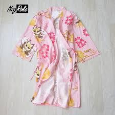 robe de chambre pour spa japonais kimono robe femmes mignon kawaii renard 100