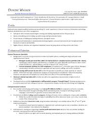 human resource resume sle resume with hr experience new formidable human resource