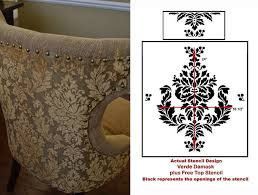 Damask Chair Dining Room Redo Using The Kerry Damask Stencil Stencil Stories
