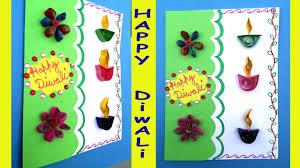 happy diwali greeting card for kids deepavali craft idea