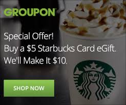 starbuck gift card deal starbucks gift card deal on groupon 5 for a 10 egift card