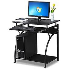 Computer Desk Without Keyboard Tray Amazon Com Onespace 50 1001 Stanton Computer Desk With Pullout