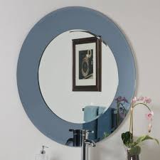 Round Bathroom Mirrors by Bathroom Ella Modern Bathroom Mirror With Square And Rounded Edge