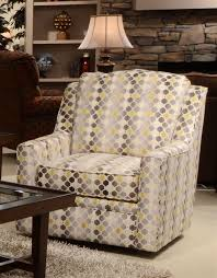 Geometric Accent Chair Sutton Accent Swivel Chair In
