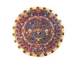 aztec calendar inca decorative wood inlay wall plaque gift