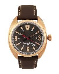 rose gold ferrari scuderia ferrari 830208 rose gold tone u0026 brown watch in metallic