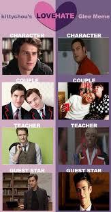 Glee Memes - my glee love hate meme by twilightandfob on deviantart