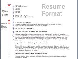 Hr Resume Format For Freshers Resume Formater Template Billybullock Us