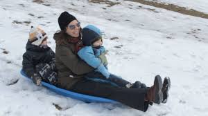 tobogganing in the snow hills with the kids youtube