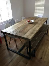 Chairs With Metal Legs Dining Table Metal And Wood Dining Room Chairs Table With
