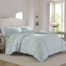 kensington scroll blue flannel comforter set free