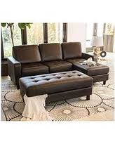 claire leather reversible sectional and ottoman bargains on claire leather reversible sectional and ottoman gray