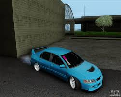 mitsubishi jdm mitsubishi lancer evolution viii jdm style for gta san andreas