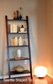 Leaning Ladder Bookcases by In Demand Bookshelf Ideas With Custom Ladder Shelf Added Corner