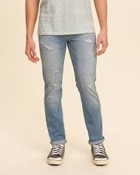 hollister light wash jeans designer mens hollister skinny jeans in ripped light wash