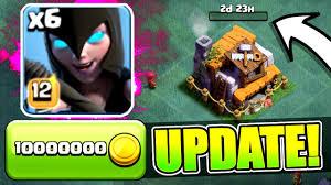 new update gem spree builders hall 6 night witch pekka level