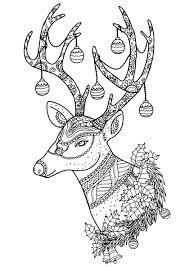 christmas deer christmas reindeer nontachai hengtragool christmas coloring