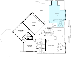 Second Floor Plan Colonial House Plan With 4 Bedrooms And 4 5 Baths Plan 8229