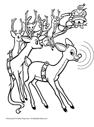 rudolph red nosed reindeer drawing coloring