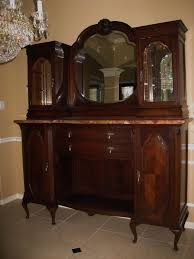 Curio Cabinets Ebay Antique Belgium Oak U0026 Marble Sideboard Buffet Server Cabinet