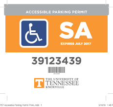 University Of Tennessee Parking Map by Accessible Parking Parking U0026 Transit Services