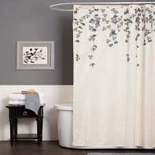 Nautical Bathroom Curtains Bathroom Lush Decor Flower Drop Shower Curtain 72inch By 72 Also