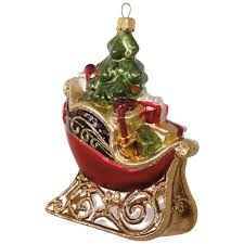 decorative sleigh blown glass ornament specialty ornaments