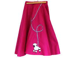 poodle skirt costume etsy