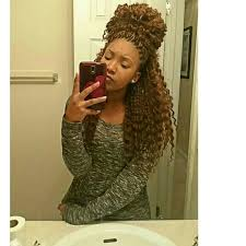 blonde marley crochet hair crochet braids featress hair brown and blonde curly wavy natural