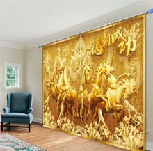 Horse Kitchen Curtains Compare Prices On Gold Drapes Online Shopping Buy Low Price Gold