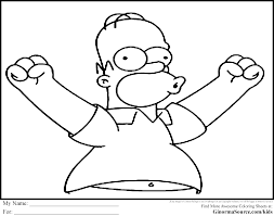 simpsons coloring pages homer coloring pages pinterest envelopes