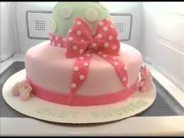 pink baby shower cake baby in a carriage youtube