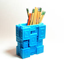 Pencil Holder For Desk 3d Printed Pencil Holder Geometric Pencil Cup By Meshcloud On Zibbet