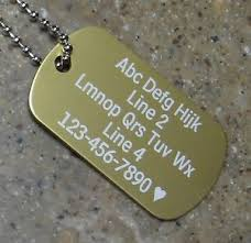 laser engraved dog tags personalized dog tag necklace vertical wording gold custom