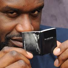 Guy Reading Book Meme - shaq holding a very small book imgur
