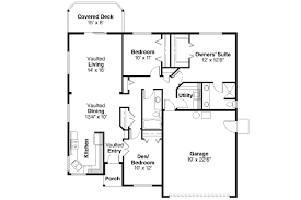 American House Floor Plan by Ranch House Plans Dexter 30 547 Associated Designs
