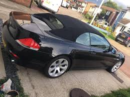 stunning black bmw 630 convertible with history 2 keys 645 m6 e63