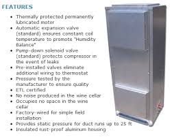 refrigeration unit for wine cellar functions and features of wine cellar refrigeration units wine