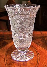 Vintage Waterford Crystal Vases Irish Waterford Crystal Large 10 Inch Footed Vase Georgian