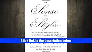 free download the sense of style the thinking person s guide to